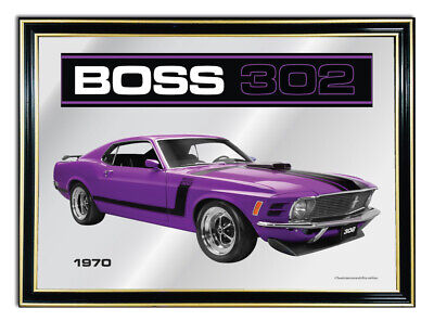 Bar Mirror/picture/ Sign/artwork Suit Purple Ford Boss 302 Mustang Enthusiast