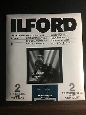 Ilford Photographic Paper 8x10 25 2 bonus Sheets Multigrade IV Pearl 44m Sealed