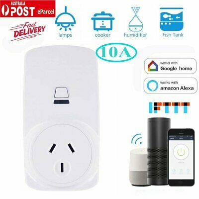 Cheap! 10A AU Wifi Smart Plug Power Socket Outlet APP Remote Echo Alexa Google