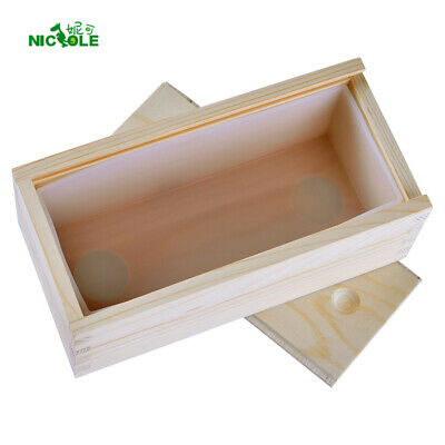 Loaf Soap Mould Rectangle Silicone Mould with Wooden Box Swirl Making Tools Mold