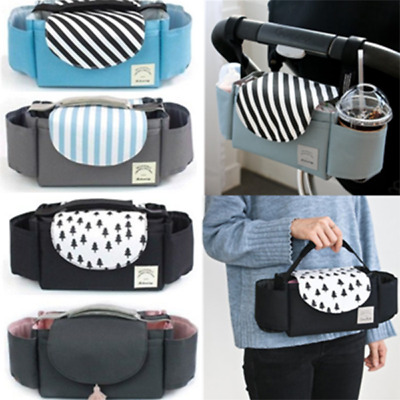 Pram Pushchair Baby Stroller Storage Bag Buggy Bottle Holder Organiser Mummy Bag