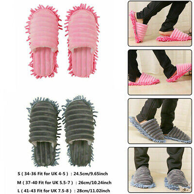 A pair Mop Slippers Lazy Floor Quick Polishing Cleaning Dust Foot Socks Shoes UK