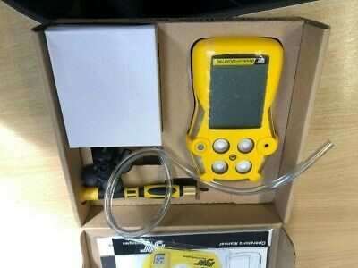 BW Gas Alert tester Quattro 4 gas detector H2S/O2/CO/LEL (CH4) rechargeable
