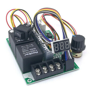 PWM DC Motor Speed Controller Digital Display Adjustable Module Input 60A 24V