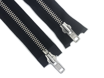 Ykk Nickel Metal Silver Open Ended 2-Way Two Way Zip No. 8 36 Inch 91Cm Chunky