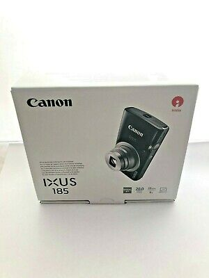 Canon IXUS 185 Digitalkamera, 20 MP, 8x optischer Zoom, 2,7 Zoll Display, Black