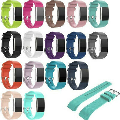 FOR Fitbit CHARGE 2 Replacement Silicone Rubber Bands Straps Wristband Bracelet