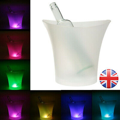 5L LED Light Ice Bucket Wine Drinks Beer Ice Cooler Bar Party Wedding Decoration