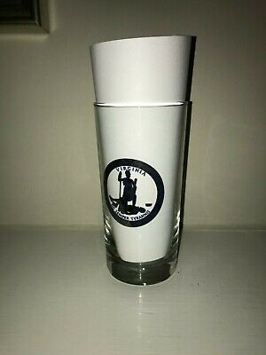 Commonwealth of Virginia Seal Clear Glass Tumbler Sic Semper Tyrannis