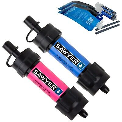 Sawyer Mini Water Filtration System Twin Pack, Blue/Pink