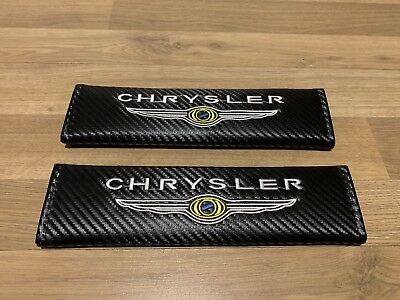 2X Seat Belt Pads Carbon Gifts Chrysler 300 C Grand Voyager Cruiser Delta Turbo