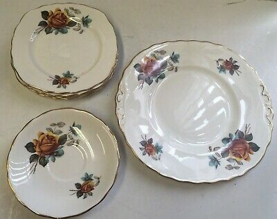 Royal Vale Bone China Tableware, Saucers, Side Plates, Main Plate