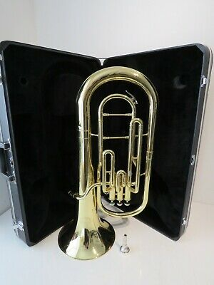 Jupiter JBR-462 Baritone Horn in Lacquered Yellow Brass with Case