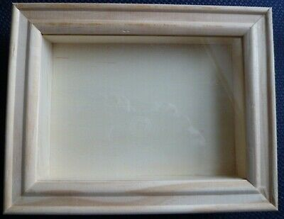 3d Wooden Frame to decorate, box frame 18cm x 24cm x 2.5cm wood