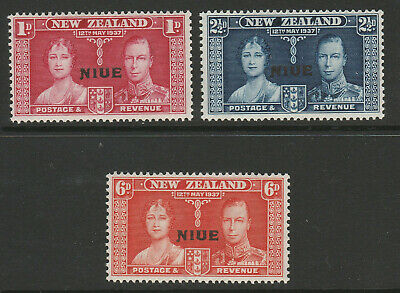 Niue 1937 Coronation set SG 72-74 Mnh.