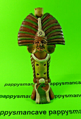 VINTAGE~SOUTH AMERICAN~CLAY FLUTE~OCARINA WHISTLE~MAYAN~AZTEC~INCA~FOLK ART p52