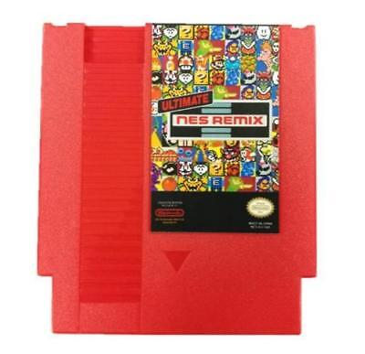 Ultimate NES Remix 154 in 1 Game Cartridge 8-Bit Player 72 Pin Multi Game Card