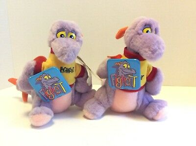 Disney Mouseketoys Figment 7in Disneyland World Plush Stuffed Doll Toy With Pin
