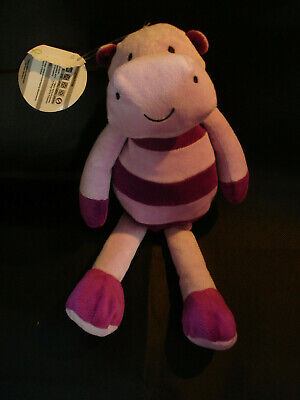 Marks And Spencer M&S Mauve Purple Lilac Hippo Soft Toy 01486223 With Tatty Tag