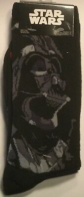 2 PAIRS Darth Vader Stormtrooper Socks Mens 6-12 STAR WARS EMPIRE JEDI FORCE new