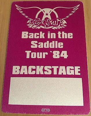Pase De Tela -Ticket -Entrada Concierto - Aerosmith -Tour 84 Back In The Saddle