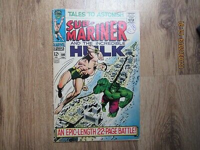 Tales to Astonish 100 Incredible Hulk vs Submariner Cent Copy
