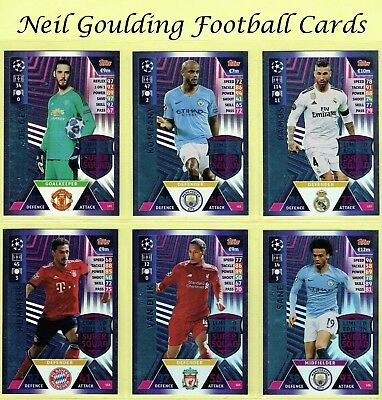 Champions League Match Attax 2018-2019 ☆☆☆ Limited Edition Super Squad Cards ☆☆☆