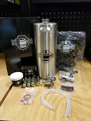 Keg Smiths 128oz 8 Pint Portable Draft Keg System CO2 Regulated Stainless Steel