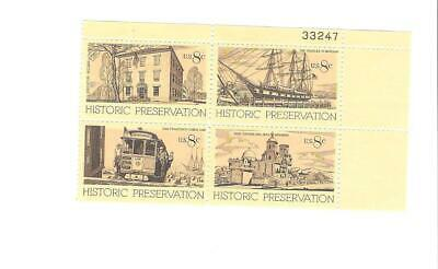 Scott # 1440 - 1443  US Historic Preservation  M/NH  O/G  4 STAMPS ONLY