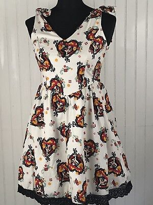 da9cca93d9f Halloween Dress Book of Life Pinup Hot Topic Size Medium Skulls Day of the  Dead