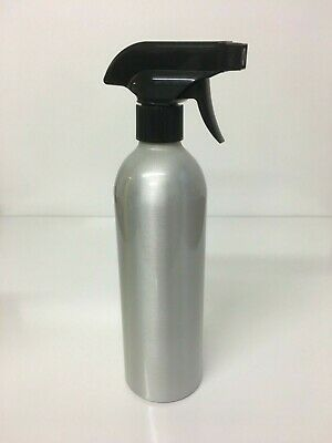 2x 500ml Aluminium Metal Bottle With Spray Trigger Garden Water Cleaning