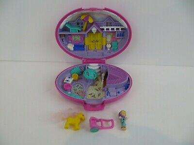 Vintage Polly Pocket 1995 Bluebird Palomino Pony compact playset figure loc529