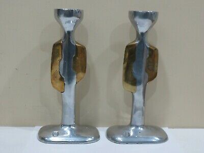 A Pair of Vintage Signed David Marshall Candlesticks