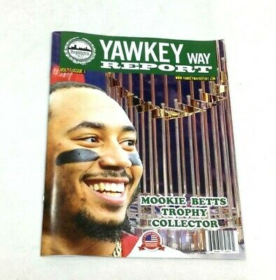 2019 April Yawkey Way Report Boston Red Sox Program Magazine Mookie Betts Cover