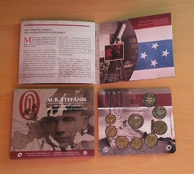 "Euro Set Slovakia 2019 with  2€ commemorative "" Milan Rastislav """