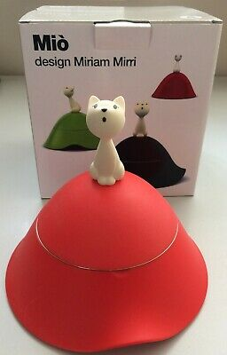 ALESSI SPECIAL OFFER Mio Cat Bowl Red AMM123R FREE DELIVERY
