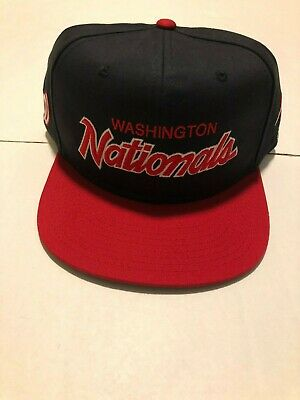 439d0e88 NEW NIKE WASHINGTON Nationals Fitted Hat L91 Swoosh Flex Men's Red ...