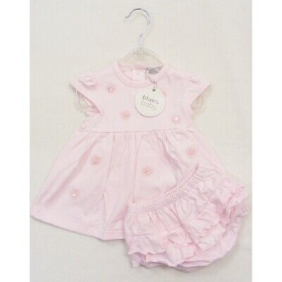 Baby girl pink dress & frilly knickers 0-1 months newborn gift Spanish Style New