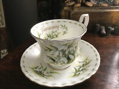 Royal Albert Flower of the Month January 1970 Cup & Saucer