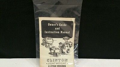 Vintage Clinton 4 Cycle Engine Owners Guide / Manual.