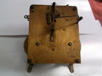 MECHANISM  FROM AN OLD PERIVALE  MANTLE CLOCK working order ref PER 1