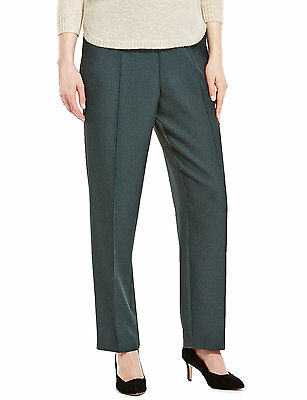 Womens dark green textured pull on trousers from Marks and Spencer size 8
