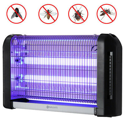 20W/30W Electric UV Insect Killer Mosquito Fly Pest Bug Grid Zapper Catcher Trap