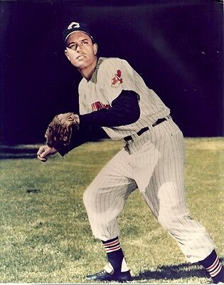 JIMMY PIERSALL 8x10 PICTURE (Color Photo) CLEVELAND INDIANS #37 Vintage Baseball