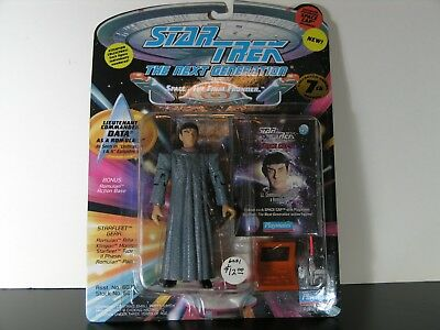 "Star Trek TNG 4.5"" Lt Comm Data as Romulan Action Figure W/Space Cap Playmates"