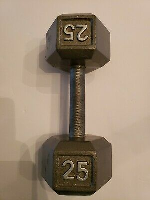 Gray Cast Iron//Steel Single Hex Dumbbell Choose from 1 lb to 120 lb Make Set Lot
