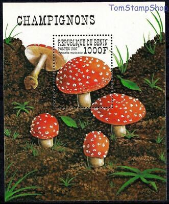 Quality Never Hinged 1998 Mushrooms Excellent Shop For Cheap Benin 1009 Unmounted Mint In