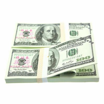 100 Pcs USD Paper $100 Dollar Bills Fake Currency Money Note Banknote Gift