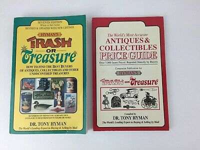 Hyman's Trash or Treasure by Dr. Tony Hyman and Price Companion Guide FREE SHIP