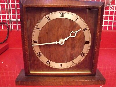 Smiths 8 day square mantle clock